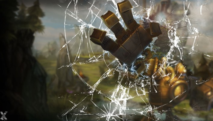 Glass hands league of legends blitzcrank shattered wallpaper