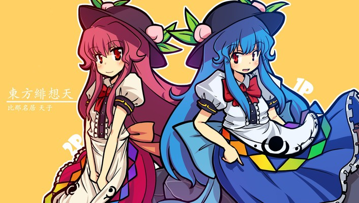 Video games touhou hinanawi tenshi anime girls wallpaper