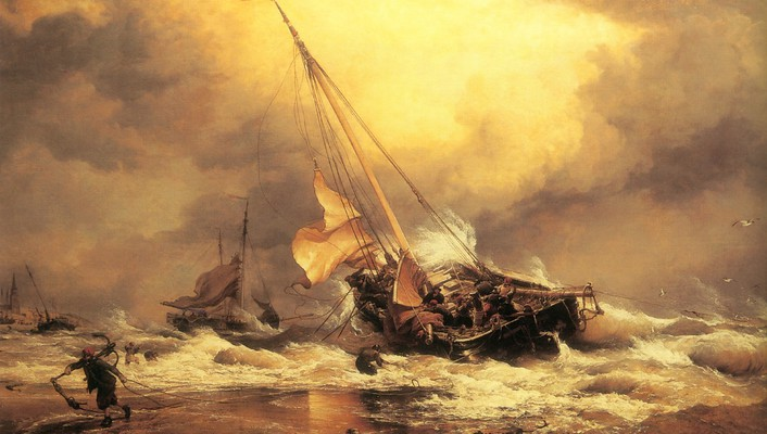 Paintings old artwork sailor sea wallpaper