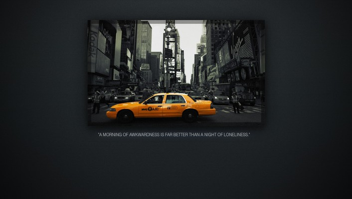 Yellow quotes new york city taxi cab noise wallpaper