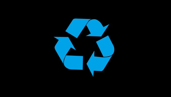Black background recycle symbols wallpaper