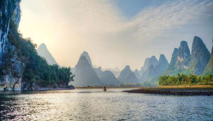 Superb chinese river hdr wallpaper