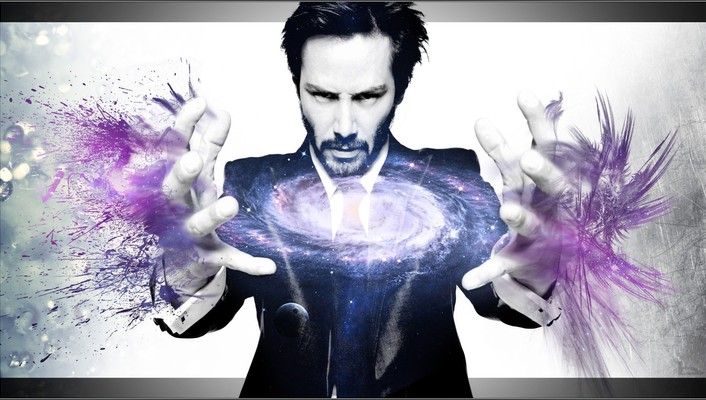 Keanu reeves galaxies photo manipulation wallpaper