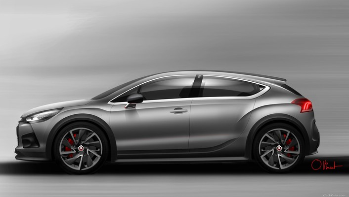 Citroen ds4 cars concept art racing wallpaper