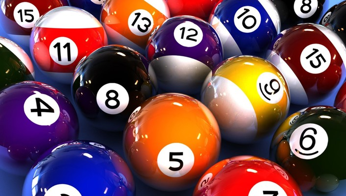 Abstract balls billiards games multicolor wallpaper
