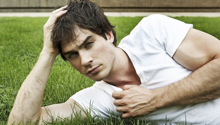 Ian somerhalder actors blue eyes brunettes grass wallpaper