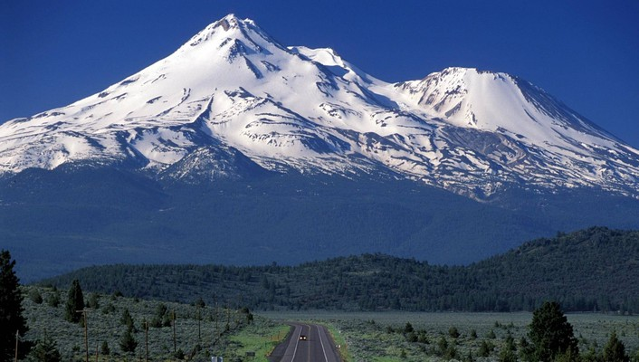 Scenic travels mount shasta california wallpaper