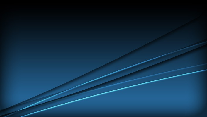 Abstract blue minimalistic computer graphics wallpaper