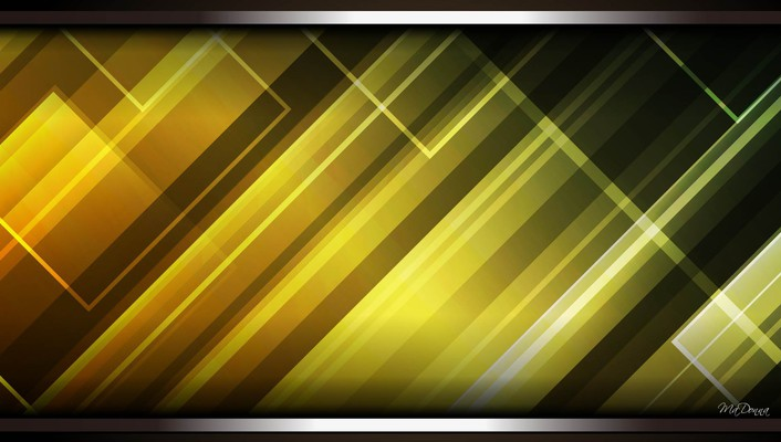 Light lines green gold wallpaper
