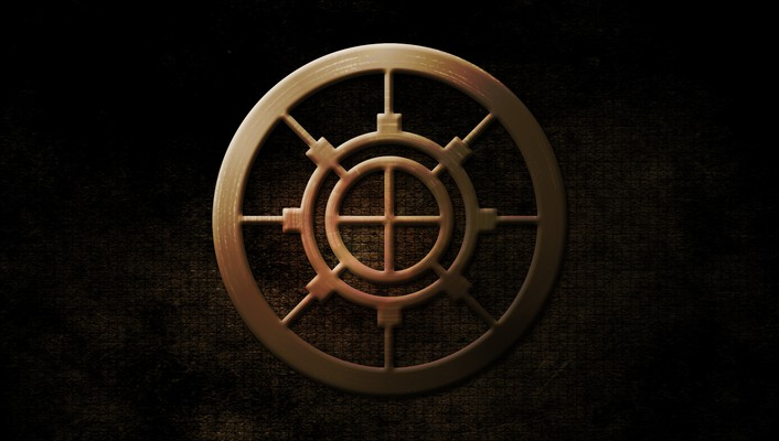 Gold steel circle wallpaper