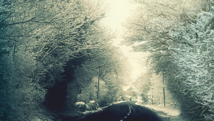 Winter weather roads driving wallpaper