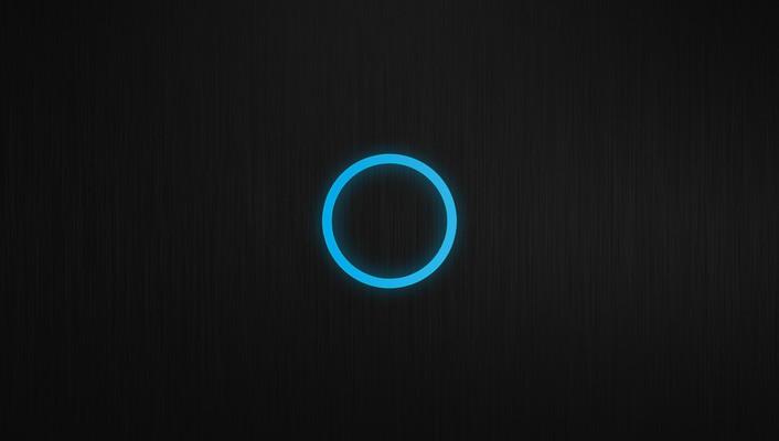 Blue black minimalistic patterns circles techno glow wallpaper