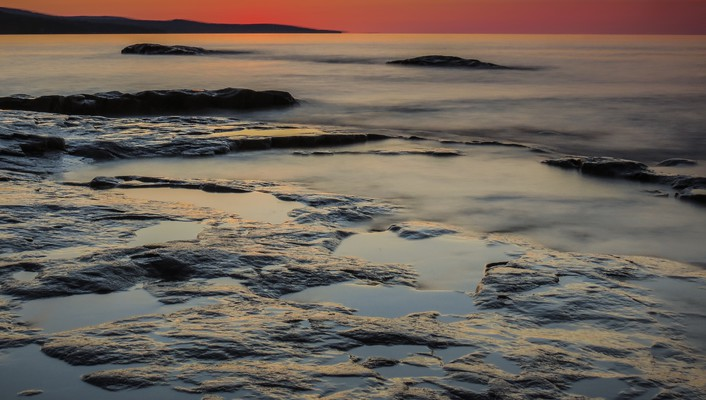 Grand marais sunrise wallpaper