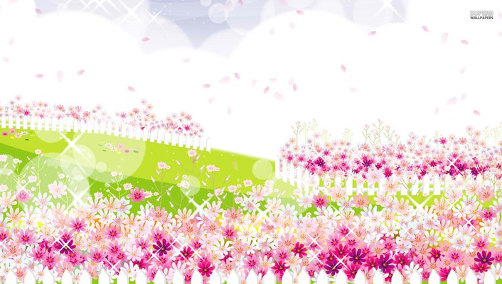 Pink flower garden wallpaper