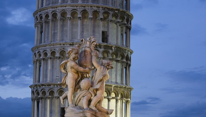 Italy leaning tower of pisa tuscany wallpaper