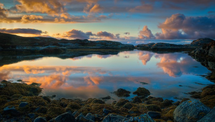 Norway norwegian clouds coast nature wallpaper