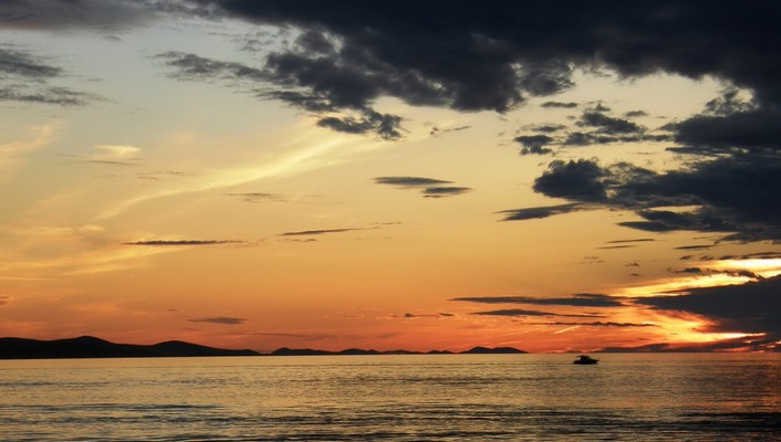 Clouds landscapes sea skies sunset wallpaper