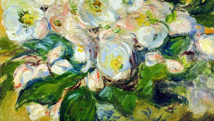Background claude monet white still life impressionism wallpaper