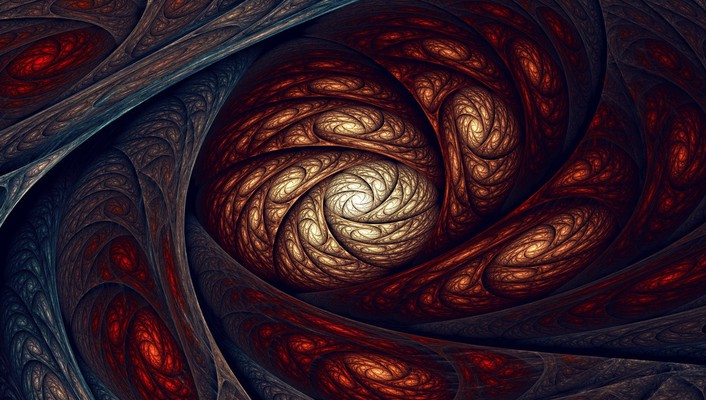 Digital art fractal wallpaper
