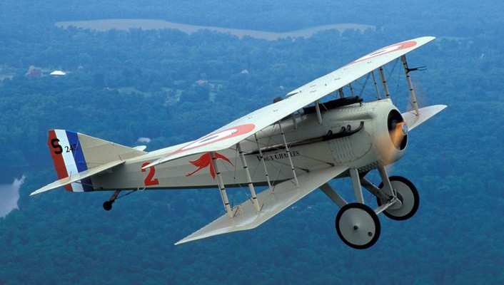 Spad aircraft biplane old replica wallpaper