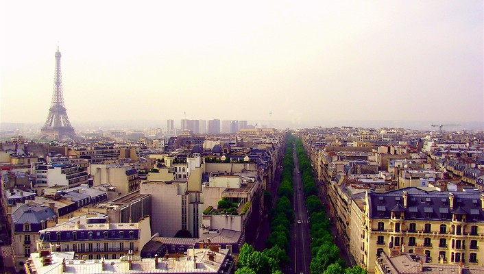 Paris landscapes cities widescreen wallpaper