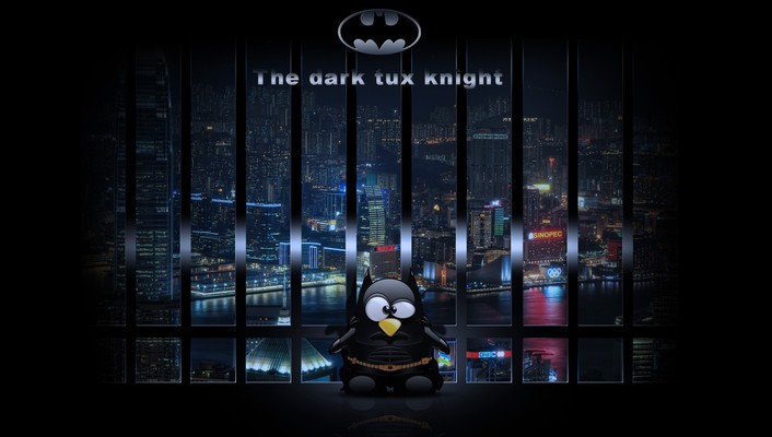 Humor funny tux parody digital art wallpaper