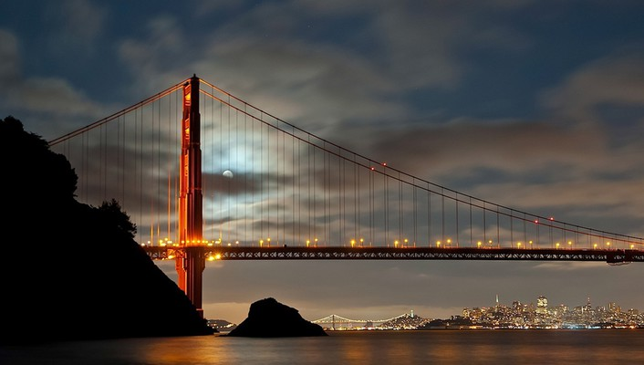Bridge hdr photography san francisco bridges fog wallpaper