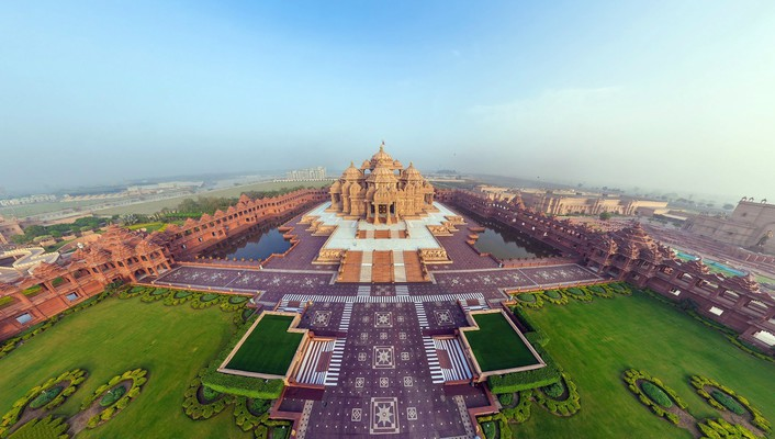 Cityscapes india akshardham temple wallpaper