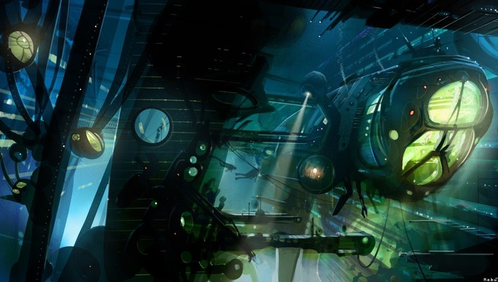 Fantasy art futuristic science fiction wallpaper
