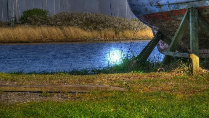 Backwater riverscape hdr wallpaper