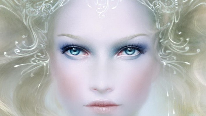 Fantasy art faces wallpaper