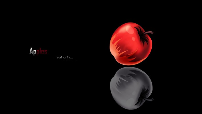 Death note minimalistic apples wallpaper