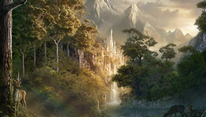 Artwork fantasy art landscapes nature wallpaper