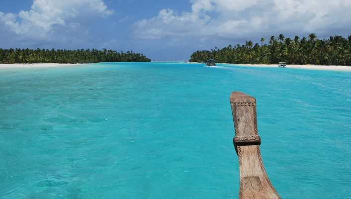 To one foot island aitutaki cook islands wallpaper
