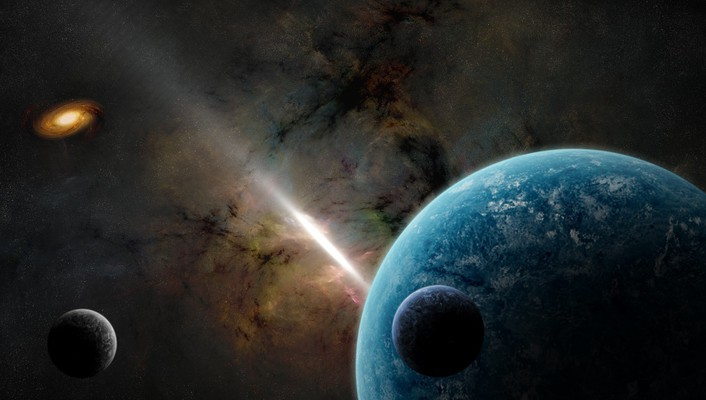 Outer space digital art artwork wallpaper
