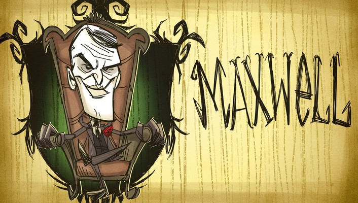 Dont starve maxwell artwork creepy video games wallpaper