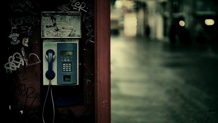 Cityscapes depth of field payphone phones streets wallpaper