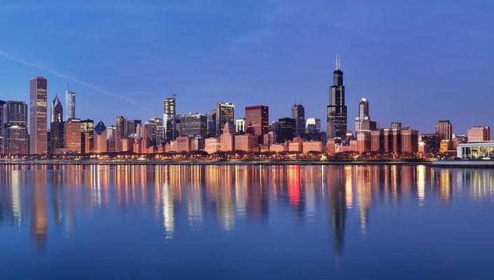 Cityscapes lake michigan wallpaper