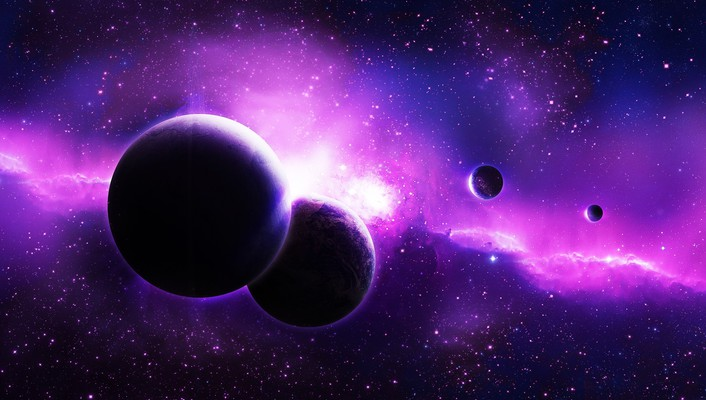 Amazing purple planets wallpaper