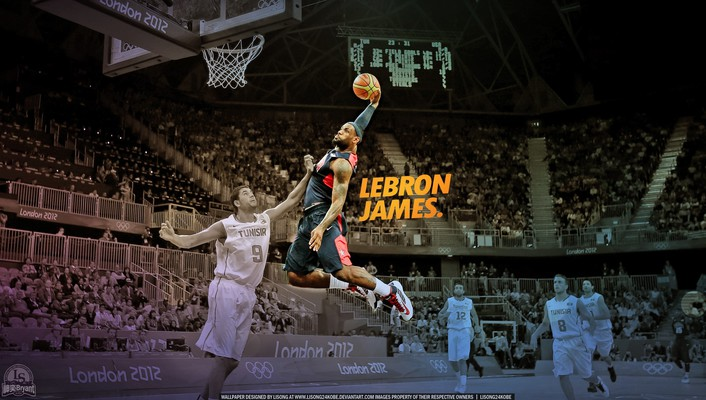 Nba lebron james dunk basketball player wallpaper