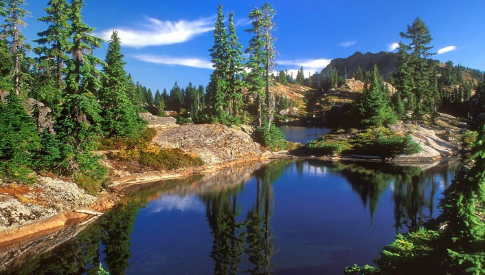 Nature forest dreams national lakes wallpaper