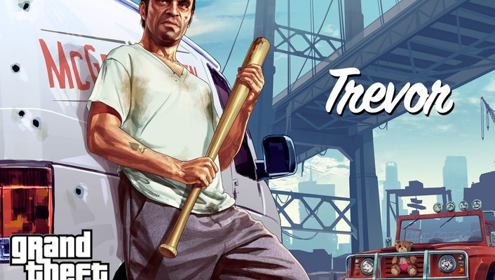 Grand theft auto rockstar games gta v trevor wallpaper