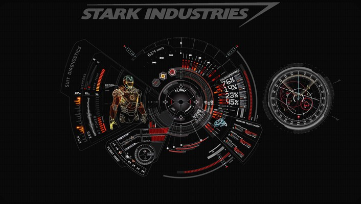 Iron man red stark industries wallpaper