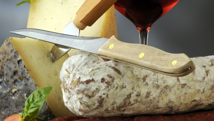 Wine cheese and sausage wallpaper