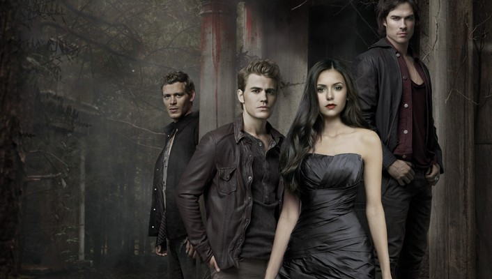 Elena gilbert paul wesley stefan salvatore damon wallpaper