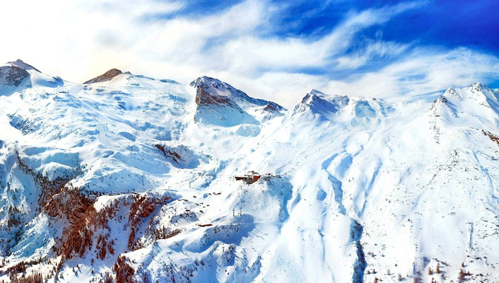 Mountains nature snow skies wallpaper