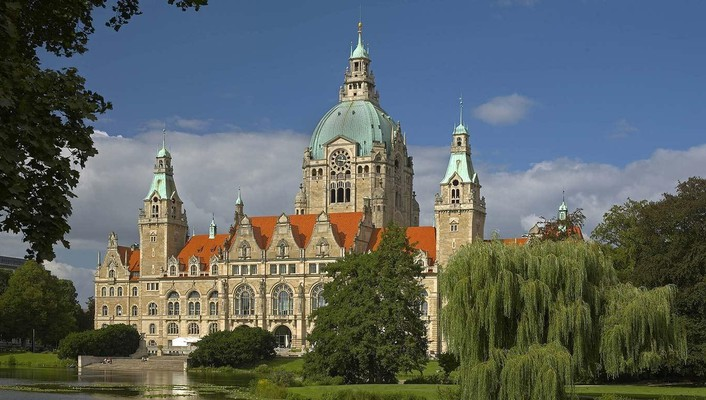 Trees germany buildings city hall bing wallpaper