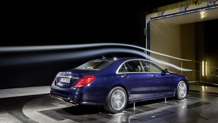 Cars s class wind tunnel mercedes benz wallpaper