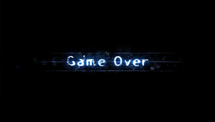 Game over light minimalistic typography wallpaper