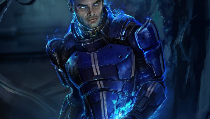Video games artwork mass effect 3 kaidan alenko wallpaper